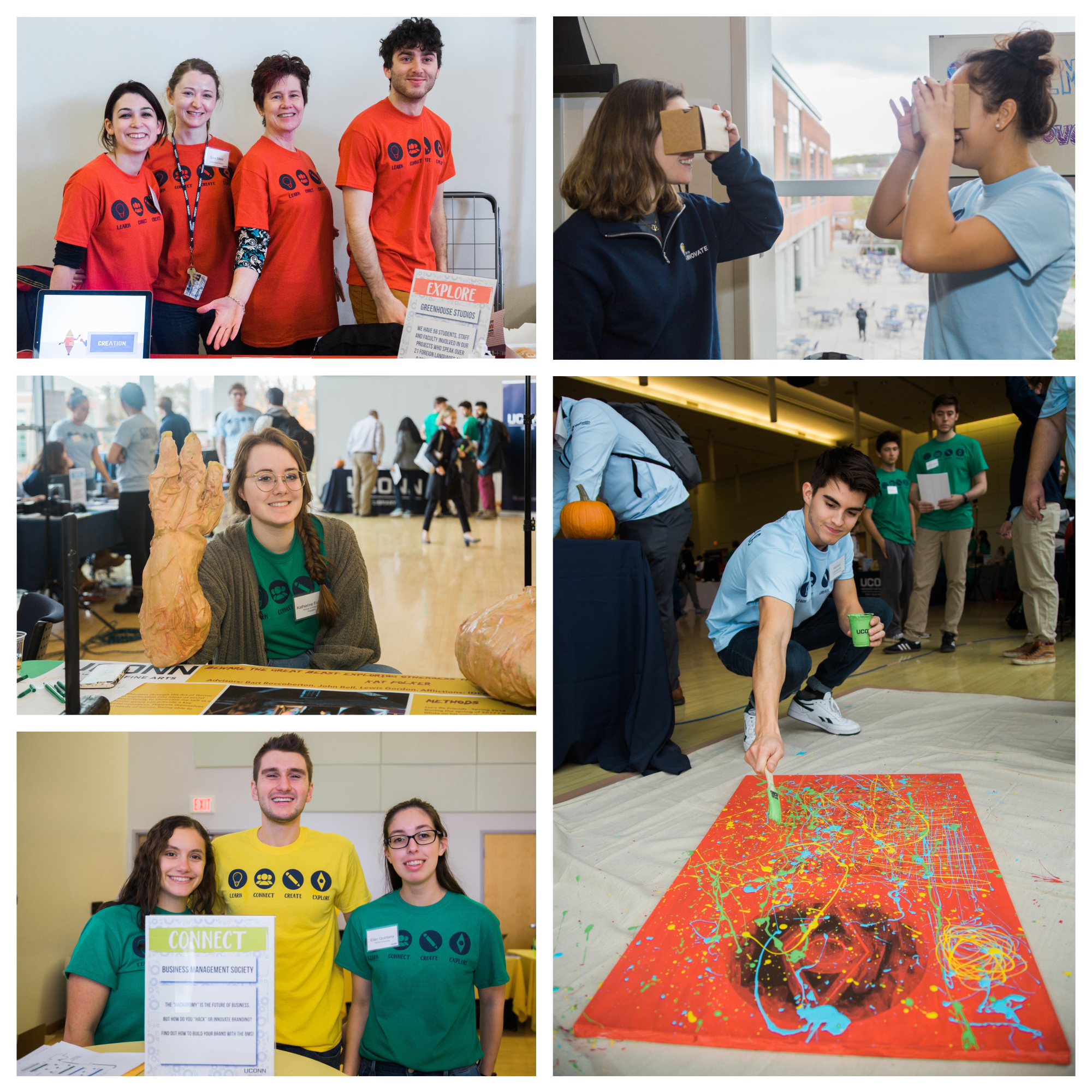 A group of students join 2018's Innovation Expo