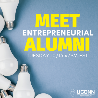 Meet Entreprenurial Alumni Tuesday, OCT. 13 at 7pm EST.